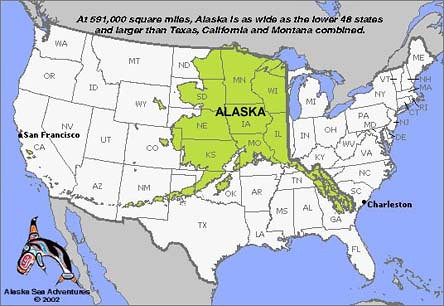 Alaska Usa Map A Comparison Map Low Resolution I Found Flickr
