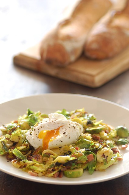 sauteed brussels sprouts with a poached egg | Flickr - Photo Sharing!