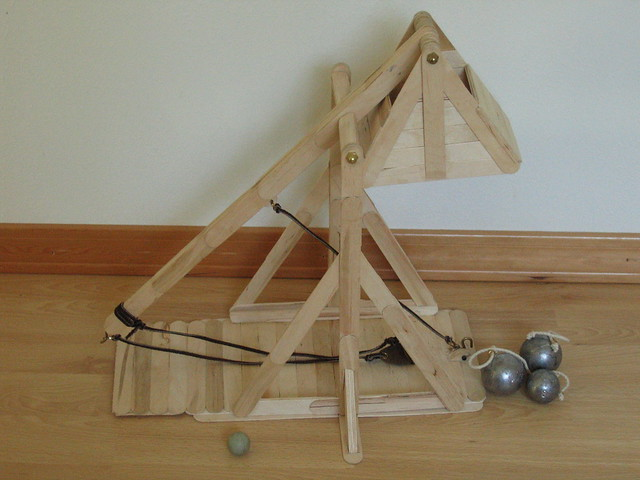 how to make a trebuchet out of popsicle sticks