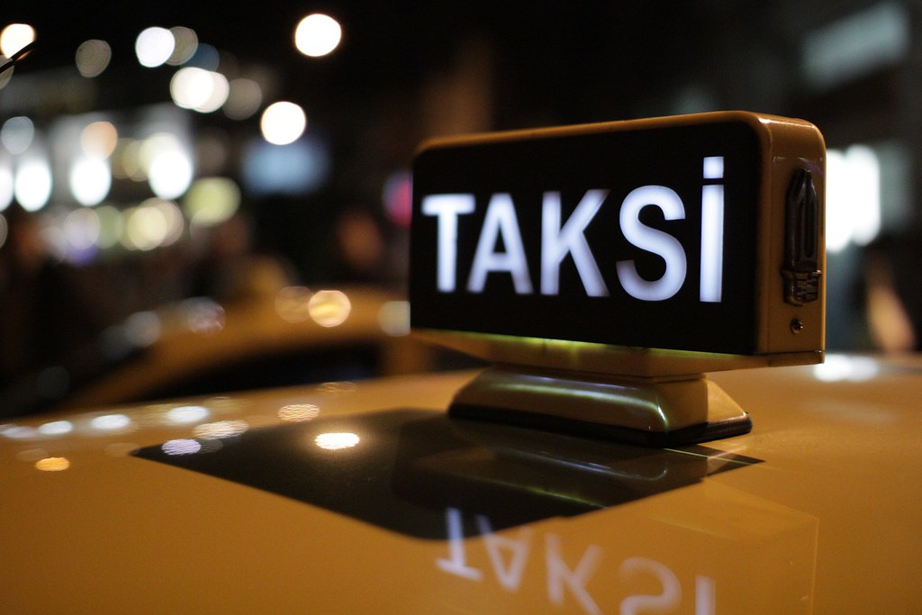 Taxi sign in Istanbul, somewhere west of Istiklal.