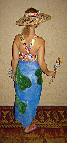 """Mary's Garden"" - Completed Eco Fashion Ensemble made of recycled materials ~ 3"