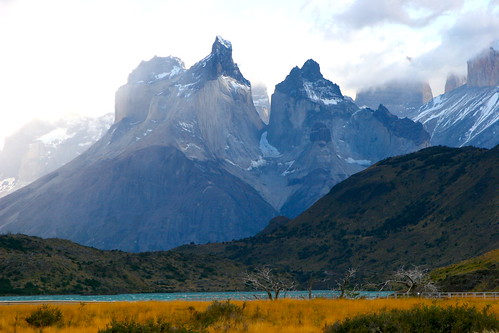 Andes Mountains, Torres del Paine National Park, Patagonia, Chile.