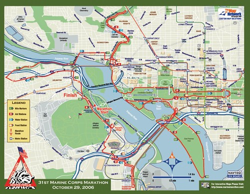 Marine Corps Marathon Course Map   Marine World