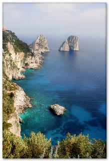 Capri's Faraglioni rocks