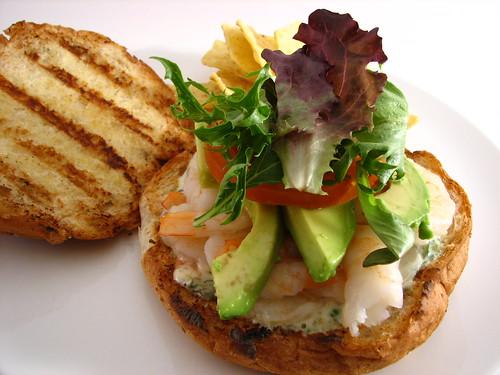 Shrimp Sandwich with Basil Caper Mayo