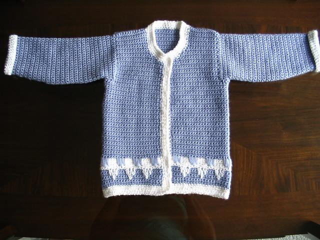 Free crochet pattern: Baby Sweater #1 - Portland crochet