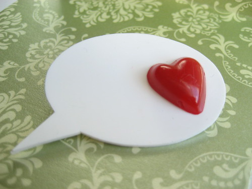 Speech Bubble Love Pin