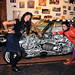 Models Myra and Meligrosa with John Leanos' Low Rider