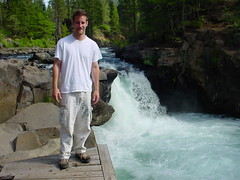 Vince at lower falls