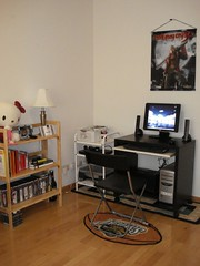 Hubby's office area - spare / game room