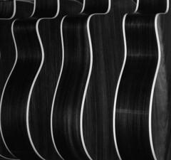 Guitar Patterns Black & White