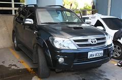 pickup truck(0.0), truck(0.0), toyota hilux(0.0), automobile(1.0), automotive exterior(1.0), toyota(1.0), sport utility vehicle(1.0), toyota fortuner(1.0), wheel(1.0), vehicle(1.0), compact sport utility vehicle(1.0), bumper(1.0), land vehicle(1.0),