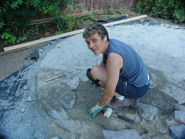 Building a stone patio