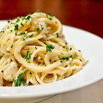 Chicken and Spaghetti with Lemon Cream Sauce