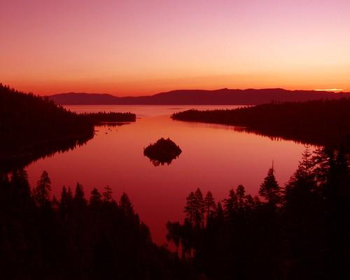 california sunrise lakes tahoe beaches