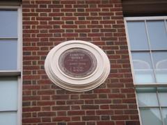 Photo of Edmund Burke brown plaque
