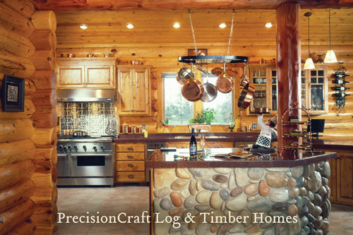 Custom Design By Precisioncraft Log Homes Idaho Log Home