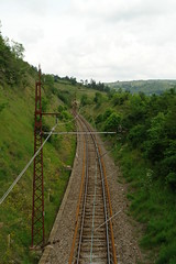 The railway line near le Saillant