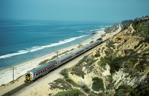 Guess the location: Amtrak on the Surfline