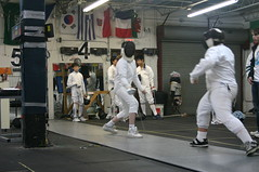 weapon combat sports(1.0), fencing weapon(1.0), sport venue(1.0), individual sports(1.0), contact sport(1.0), sports(1.0), combat sport(1.0), fencing(1.0), foil(1.0),
