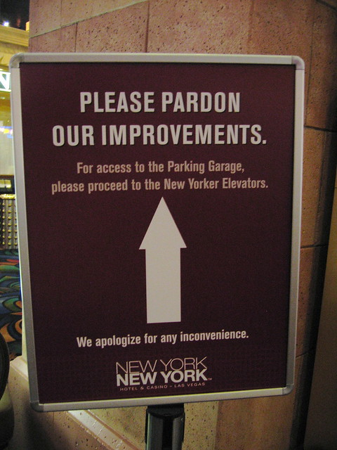 Pardon our Improvements?