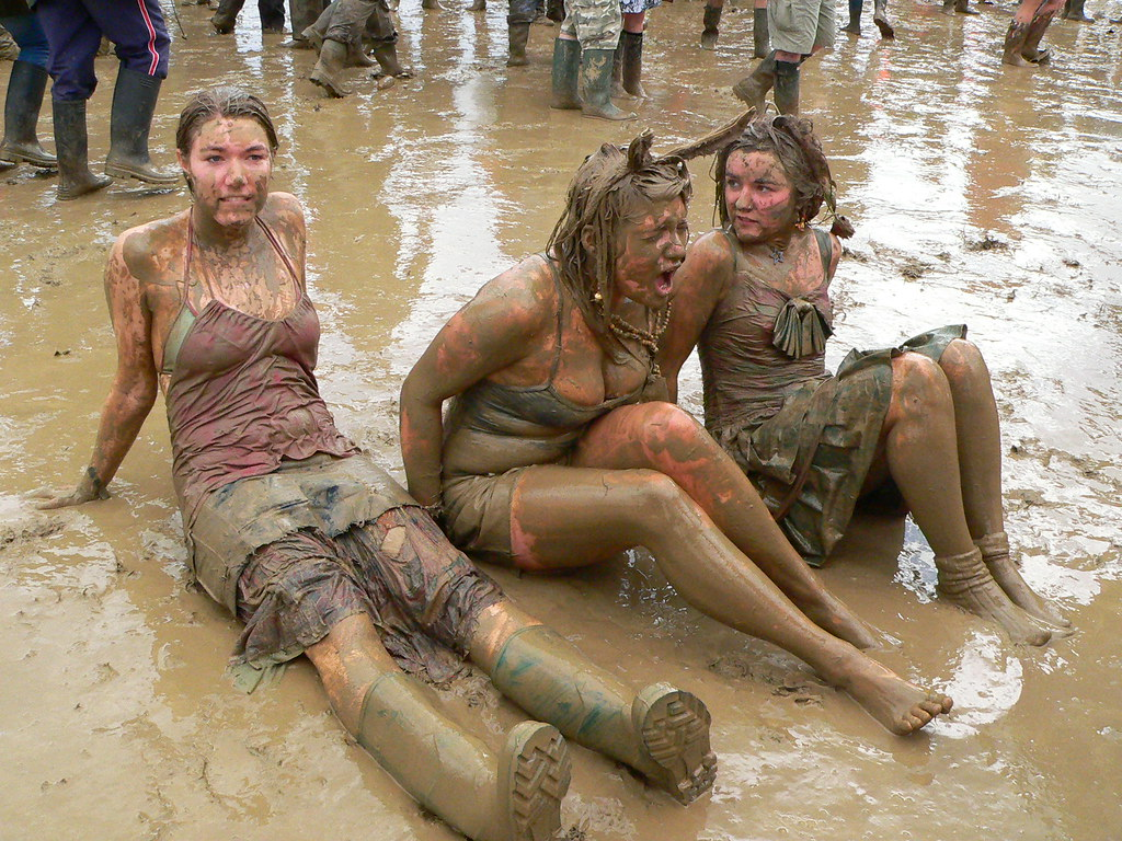 Girls Covered In Mud