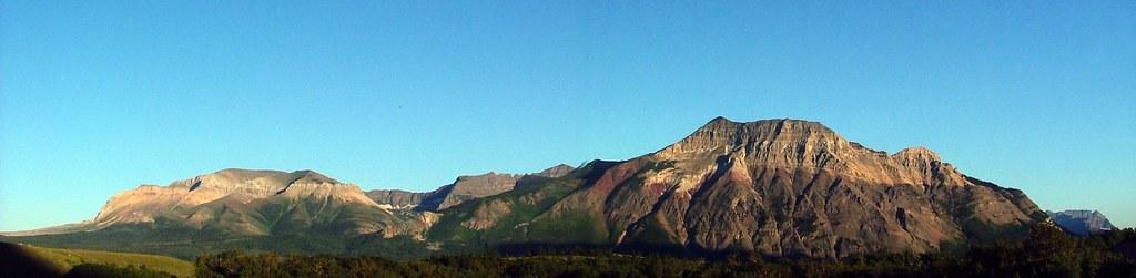 zicht op de bergen vanaf Red Rock Parkway