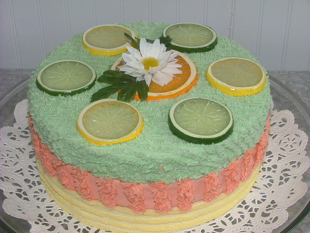 Vintage chenille cake sherbert trio