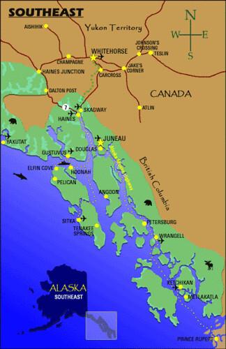 Map Southeast Alaska  Flickr  Photo Sharing