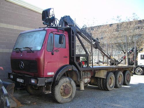 camió Mercedes Benz a Campdevànol