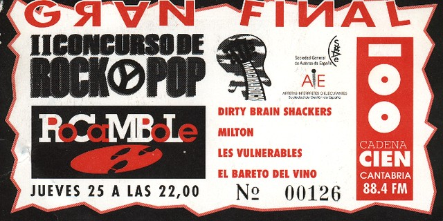 Dirty Brain Shackers+Milton+Les Vulnerables+El Bareto Del Vino