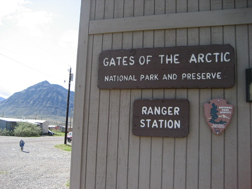 Gates of the Arctic National Park and Preserve - Anaktuvuk Pass Ranger Station sign - Alaska