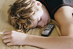 Teen boy sleeping - good