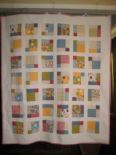 Crazy Nine Patch Quilt - Front
