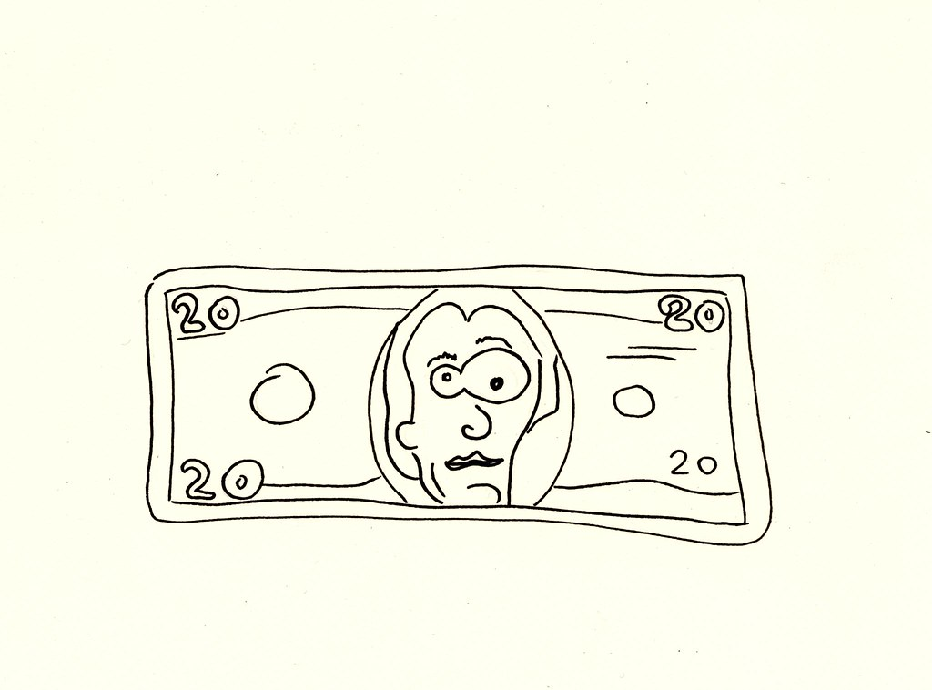 20 Dollar Bill Ink Drawing America S Favorite Bill The Un Flickr