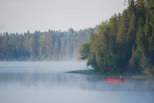 Man in Canoe at 6:30 am