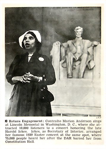 Contralto Marion Anderson Makes Return Engagement to Lincoln Memorial - Jet Magazine May 1, 1952 by vieilles_annonces