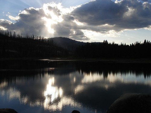 ca trees sunset lake reflection water forest fire mirror antelope moonlight lassen