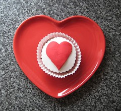 heart, red, fondant, food, icing, valentine's day,