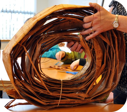 How To Weave A Cedar Basket : Rosy posy weaving cedar bark