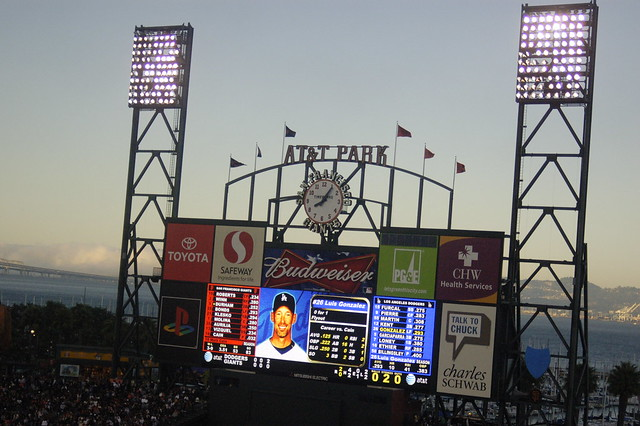 GIANTS GAME: Scoreboard | Flickr - Photo Sharing!