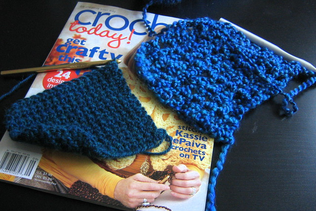Front post half double crochet (FPhdc) - Glossary - Crochet Me