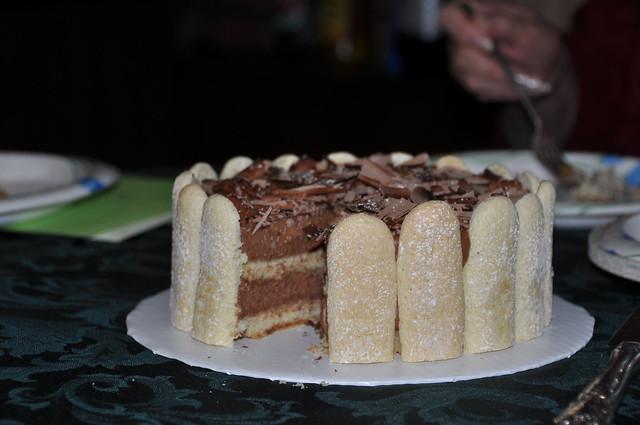 Lady Finger Cake Chocolate Mousse