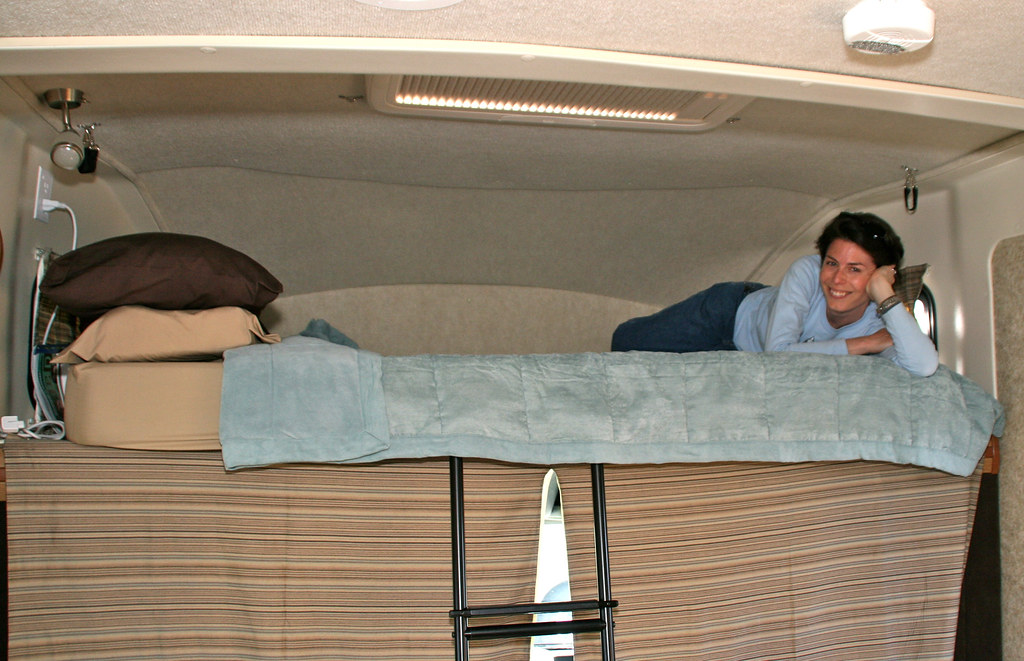 Master Bedroom in the Winnebago