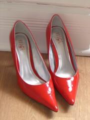 footwear, shoe, high-heeled footwear, red,