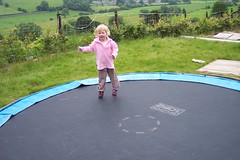 backyard, trampolining--equipment and supplies, play, leisure, trampoline, trampolining,