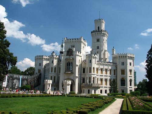 美麗的Hluboka城堡.