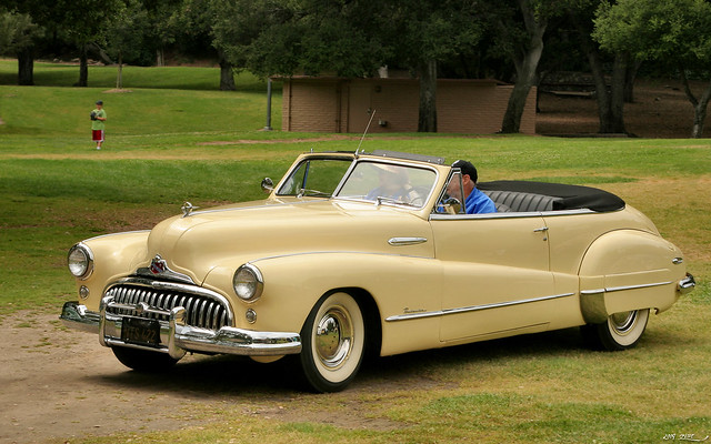 1948 Buick Roadmaster Convertible - yellow - fvl