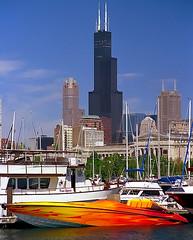 Chicago - Sears Tower & Burnham Harbor Speedboat