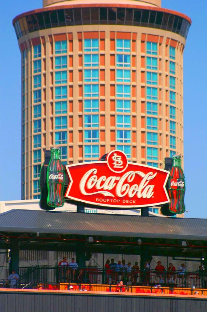 Coke Rooftop Deck And Millenium Hotel At Busch Stadium St Flickr
